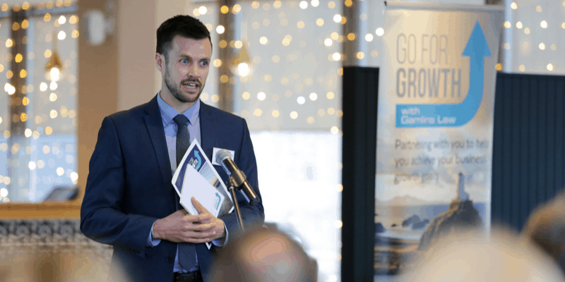 Daniel Roberts (Financial Adviser) presents at Go For Growth launch